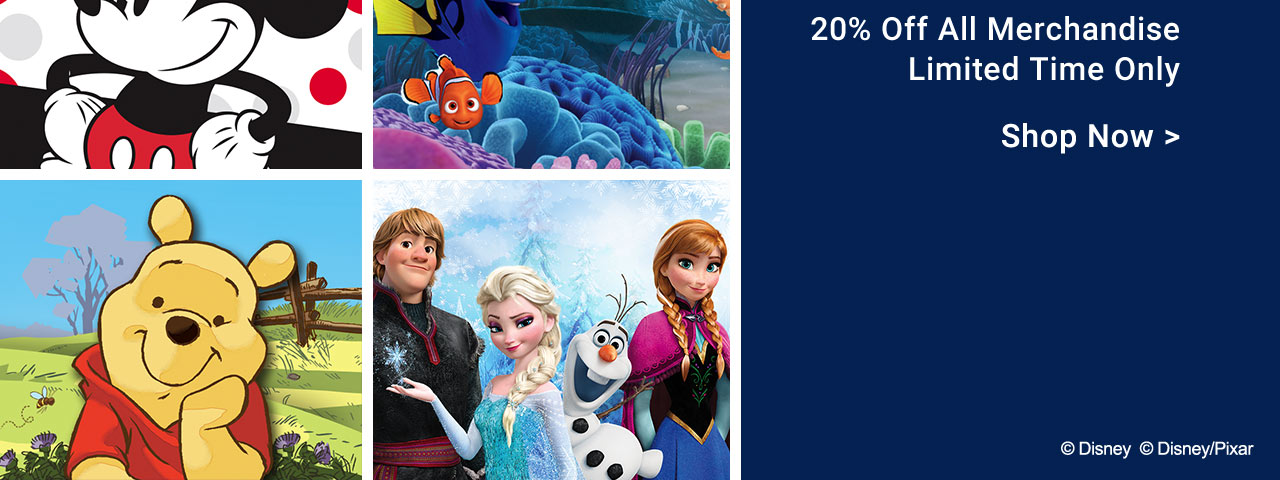20% Off All Disney Merchandise - Limited Time Only