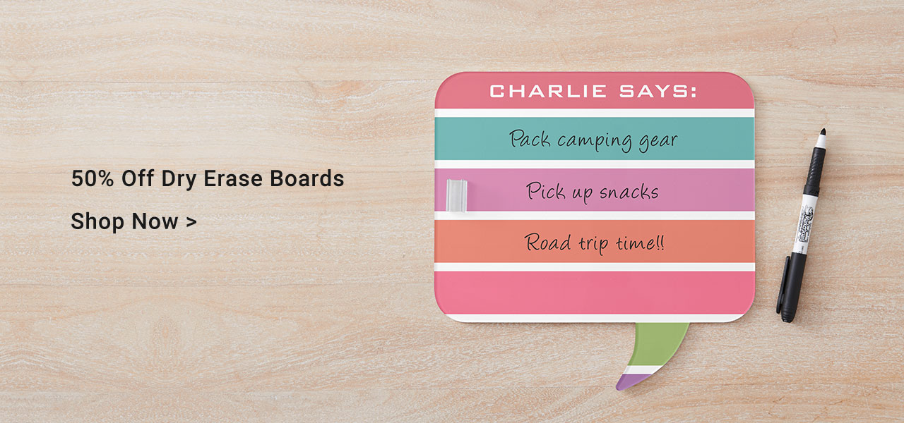 50% Off Dry Erase Boards