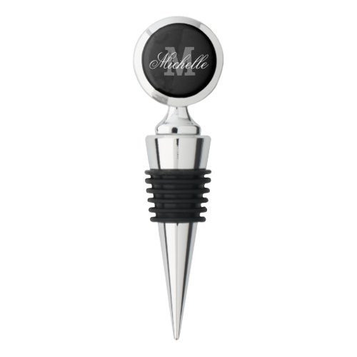 Personalized Wine Stopper With Elegant Monogram