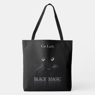 Black Magic Cat Lady Tote Bag