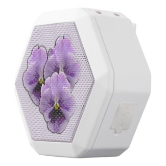 Pansy White Bluetooth Speaker
