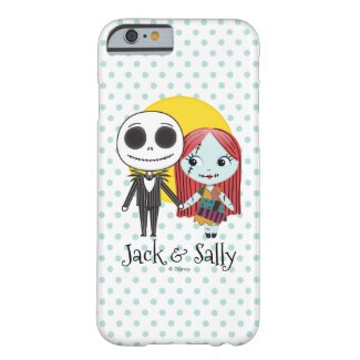 Nightmare Before Christmas | Jack & Sally Emoji Barely There iPhone 6 Case