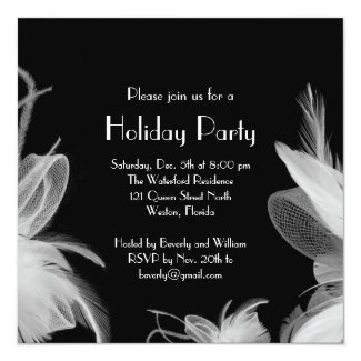 Feathered 1920's Holiday Invitation