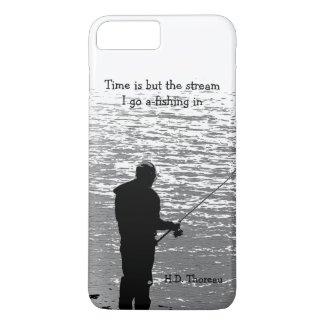 Thoreau Time Fishing Quotation iPhone 7 Plus Case
