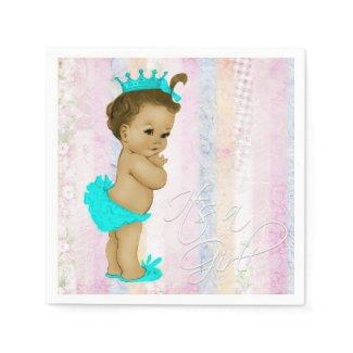 Pastel Rainbow Baby Shower Napkin
