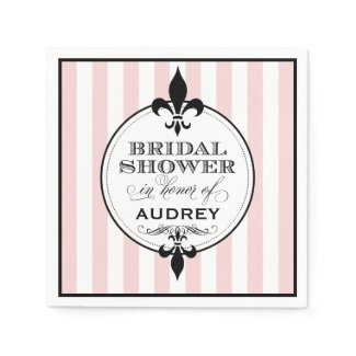 Bridal Shower Napkins | Fleur de Lis Design