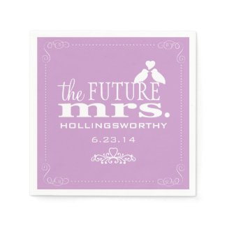 Lavender The Future Mrs Bridal Shower Paper Napkin