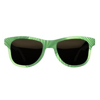 Palm leaf - emerald and lime green eyewear