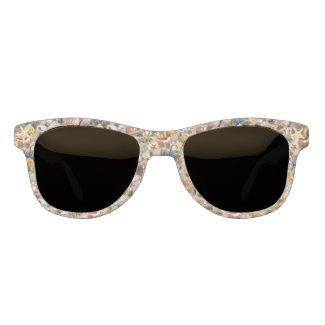 Fancy Seashells at The Beach Sunglasses