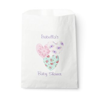 Purple & Pink Floral Candy Favor Bags