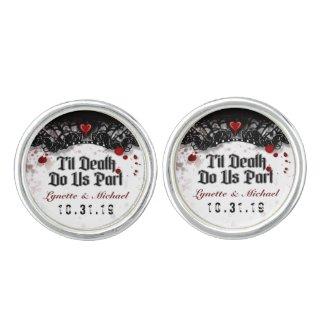 Halloween Til Death Do Us Part Custom Cuff Links