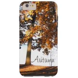 Fall maple tree leaves autumn monogram tough iPhone 6 plus case