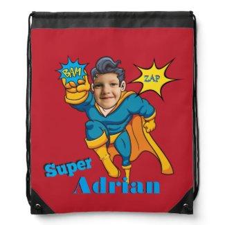 Superhero Personalized Child Custom School Bag