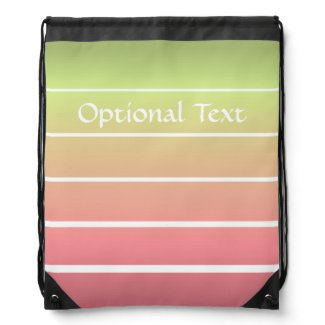 Ombre Stripes Drawstring Backpack