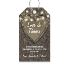 Country Lights Rustic Oak Tree Wedding Thank You Gift Tags