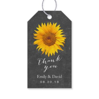Wedding Favor Tag | Chalkboard Sunflower