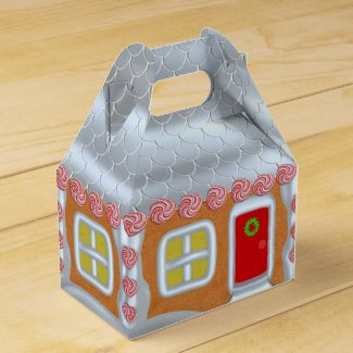 Personalized Gingerbread House Christmas Gift Box