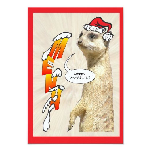 Christmas Furry Meerkat Menu Card