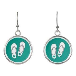 Cute custom color beach flip flops drop earrings