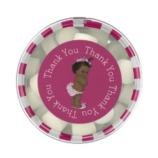 Ethnic Princess Baby Shower Pink Thank You Favor Gum
