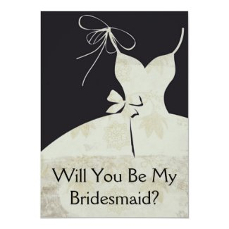 Maid of Honor Or Bridesmaid Card