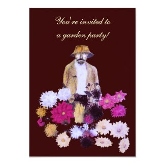 Dahlia Garden Party Invitation