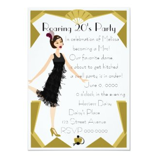 Art Deco Doll Card