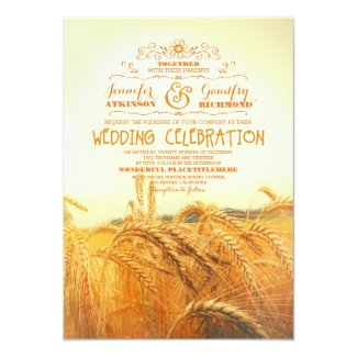 Rustic Wheat Invitation