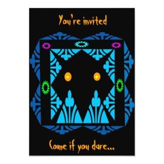 Glowing Eyes Halloween Invitation