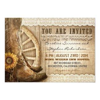 Western Wedding Invitation with Cowboy Shoes