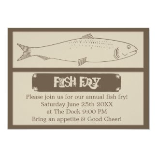 Annual Fish Fry Invitation