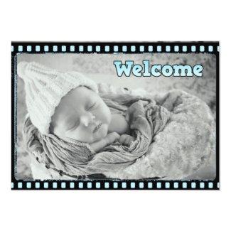 Baby Boy Film Strip Photo Birth Announcement