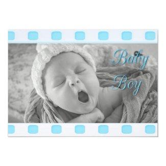Baby Boy Vintage Filmstrip Blue Birth Announcement