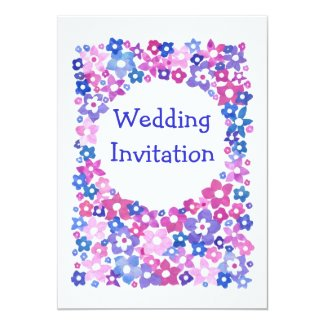 Customisable Flower Power Wedding Invitation