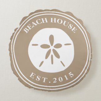 Beach House Round Pillow