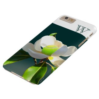 Tennis magnolia flower monogram barely there iPhone 6 plus case