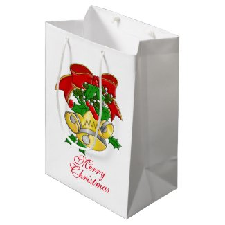 Christmas Bells Medium Gift Bag