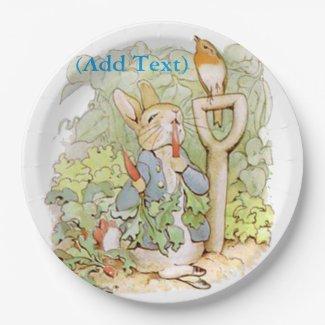 Vintage Fairy tale Rabbit Party Plates