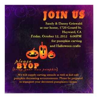 Pumpkin Carving Party Invitations