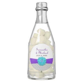 Aqua|Purple Daisy Wedding Chewing Gum