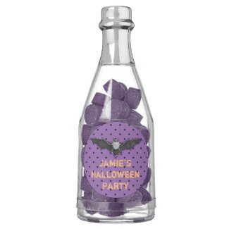 Purple and Black Bat Halloween Favors Gum