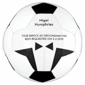 Best Man or Groomsman Soccer Ball Invite