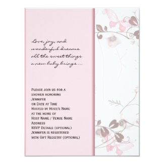 Butterfly Visions in Pink Baby Shower Invitation