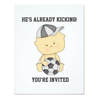 Already Kicking Soccer Baby Shower Invitation