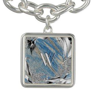 Light Blue Frost Custom Charm Bracelet