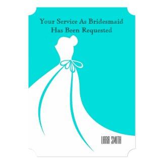 Maid of Honor or Bridesmaid Invite