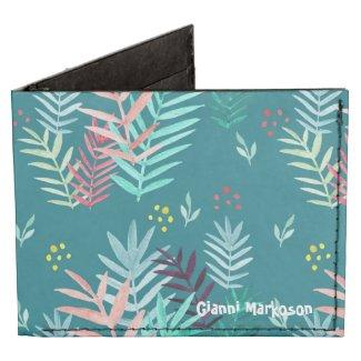 Tropical Pattern with custom name Tyvek Wallet