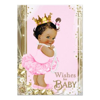Ethnic Princess Tutu Pearls Wishes for Baby Card