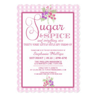Sugar and Spice Baby Shower Card