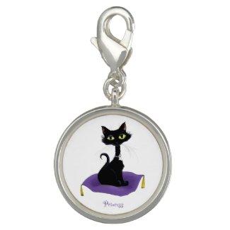 Princess Black Cat Charm